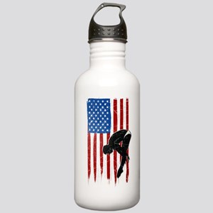 USA Flag Team Diving Stainless Water Bottle 1.0L