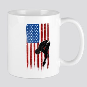 USA Flag Team Diving Mug