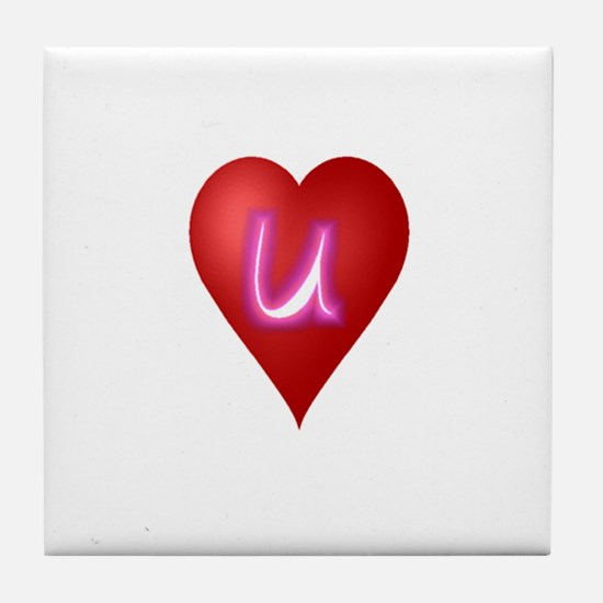 Cute First valentines day Tile Coaster