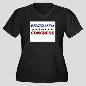 ESMERALDA for congress Women's Plus Size V-Neck Da