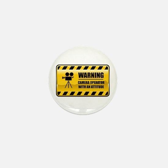 Warning Camera Operator Mini Button