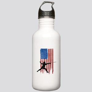 USA Flag Team Fencing Stainless Water Bottle 1.0L