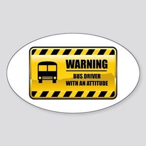 Warning Bus Driver Oval Sticker