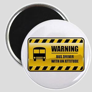 Warning Bus Driver Magnet