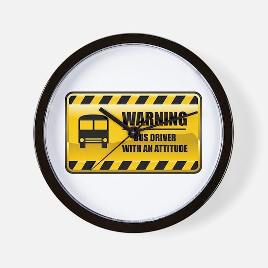 Warning Bus Driver Wall Clock