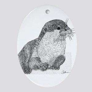 Otter Oval Ornament