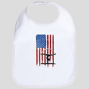 USA Flag Team Balance Beam Bib