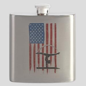 USA Flag Team Balance Beam Flask