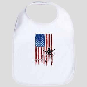 USA Flag Team Uneven Bars Bib