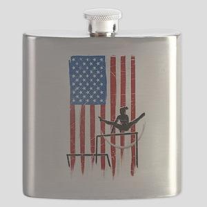 USA Flag Team Uneven Bars Flask