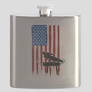 USA Flag Team Pommel Horse Flask