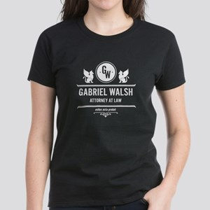 Gabriel Walsh Law Firm Women's Dark T-Shirt