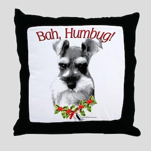 Std. Schnauzer Humbug Throw Pillow
