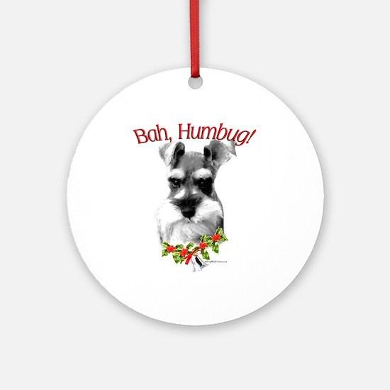 Std. Schnauzer Humbug Ornament (Round)