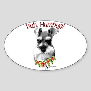 Std. Schnauzer Humbug Oval Sticker