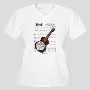 Ida's Dobro Women's Plus Size V-Neck T-Shirt