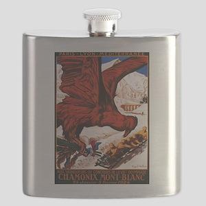 1924 Winter Olympics - Vintage Advertisement Flask