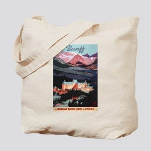 Banff, Canada - Banff Springs Hotel Tote Bag