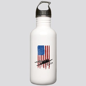 USA Flag Team Rowing Stainless Water Bottle 1.0L