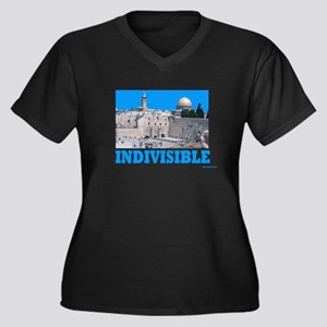 Israel Indivisible Women's Plus Size V-Neck Dark T
