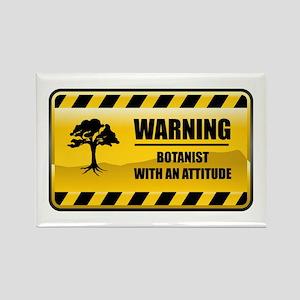Warning Botanist Rectangle Magnet