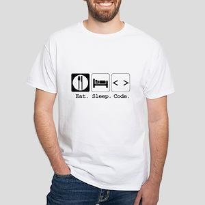Eat. Sleep. Code. White T-Shirt