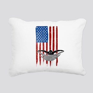 USA Flag Team Swimming Rectangular Canvas Pillow