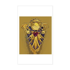 Angel GOLDEN Heart Rectangle Decal