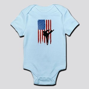 USA Flag Team Taekwondo Infant Bodysuit
