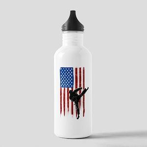USA Flag Team Taekwondo Stainless Water Bottle 1.0