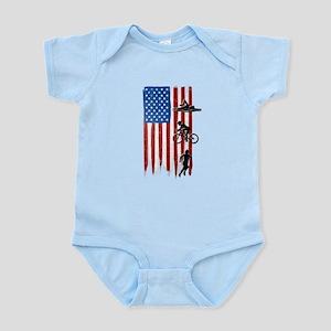USA Flag Team Triathlon Infant Bodysuit