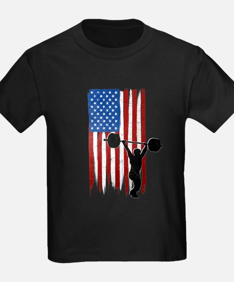 USA Flag Team Weightlifting T