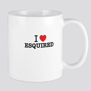 I Love ESQUIRED Mugs