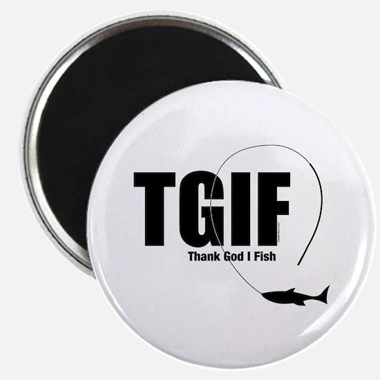 TGIF Fishing Magnet
