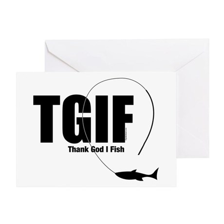 TGIF Fishing Greeting Card