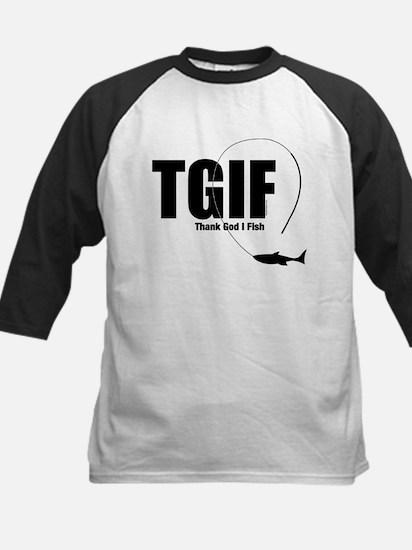 TGIF Fishing Kids Baseball Jersey