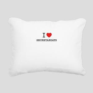 I Love SECRETARIATS Rectangular Canvas Pillow
