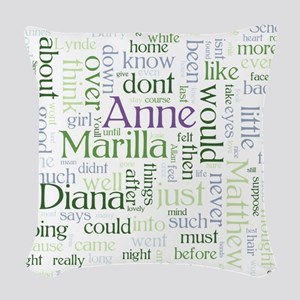 Anne of Green Gables Word Cloud Woven Throw Pillow