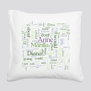 Anne of Green Gables Word Cloud Square Canvas Pill