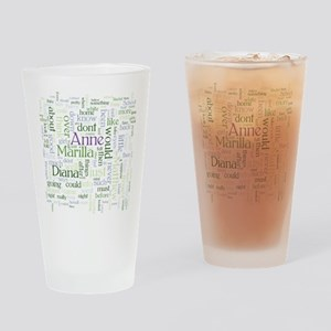 Anne of Green Gables Word Cloud Drinking Glass