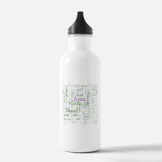 Anne of Green Gables Word Cloud Water Bottle