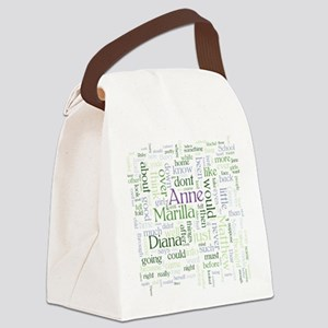 Anne of Green Gables Word Cloud Canvas Lunch Bag