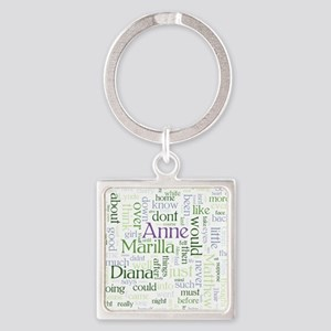 Anne of Green Gables Word Cloud Keychains