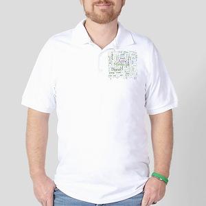 Anne of Green Gables Word Cloud Golf Shirt