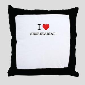 I Love SECRETARIAT Throw Pillow