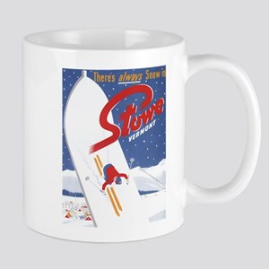 Stowe, VT - There's Always Snow in Stowe Mugs