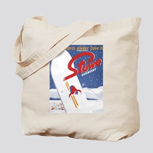 Stowe, VT - There's Always Snow in Stowe Tote Bag