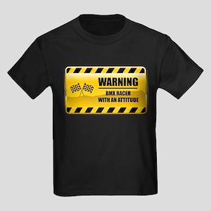 Warning BMX Racer Kids Dark T-Shirt
