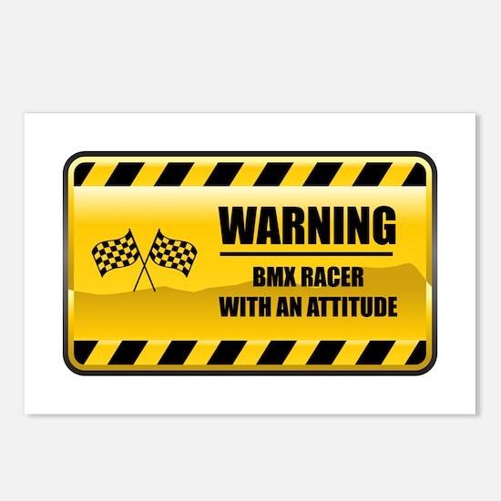 Warning BMX Racer Postcards (Package of 8)