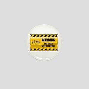 Warning BMX Racer Mini Button